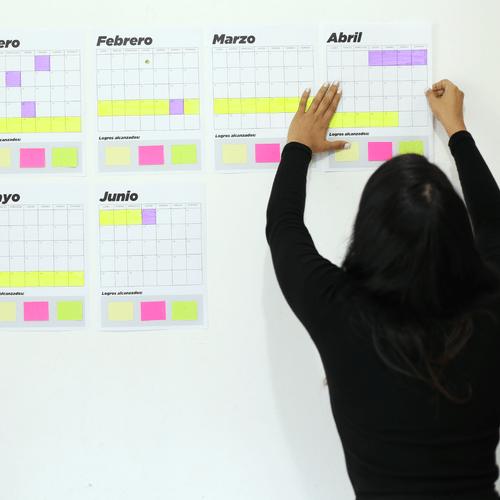 Mural - Organiza tus metas del año