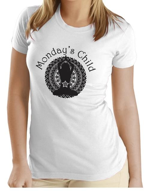 Monday's Child T-shirt (Black)