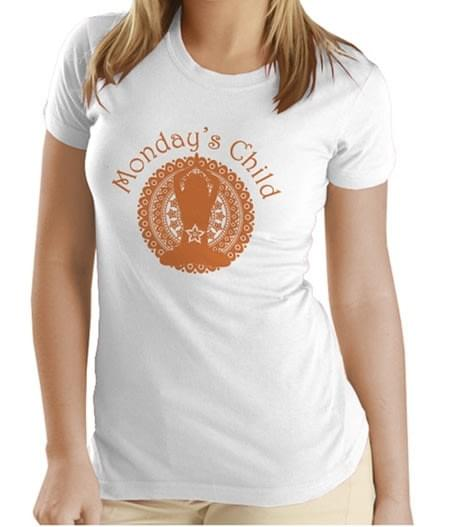 Monday's Child T-shirt (Orange)