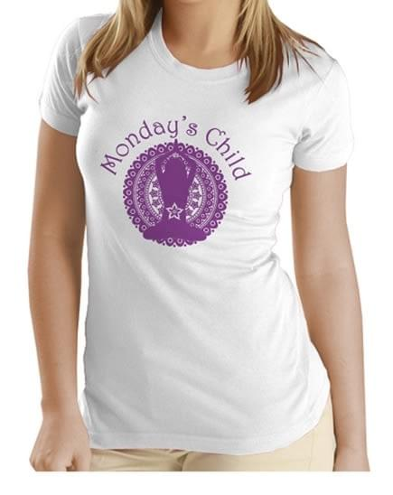 Monday's Child T-shirt (Purple)