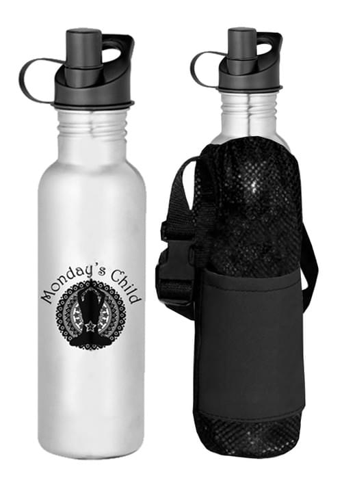 Monday's Child Stainless Steel Water Bottle