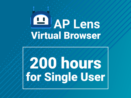 Virtual browser for 200 hours