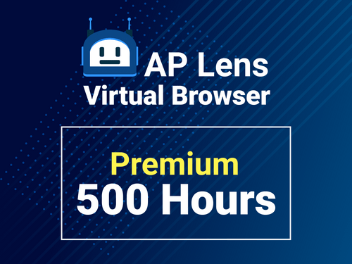 Virtual browser for 500 hours