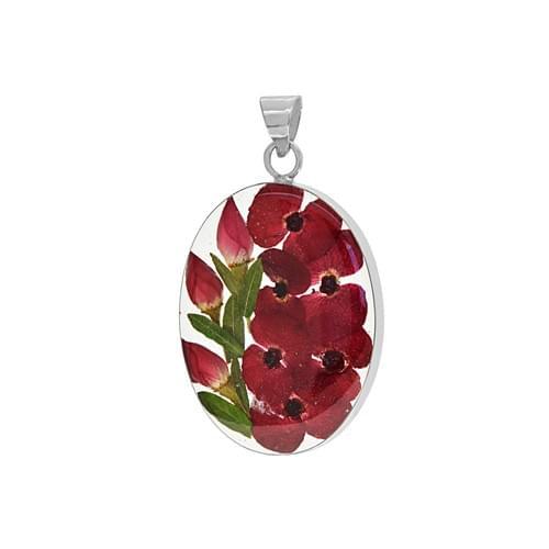 Virágos ovális medál (Cikkszám: 42212)