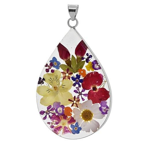 Csepp alakú virágos medál (Cikkszám: 42465)