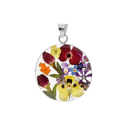 Virágos kerek medál (Cikkszám: 42219)