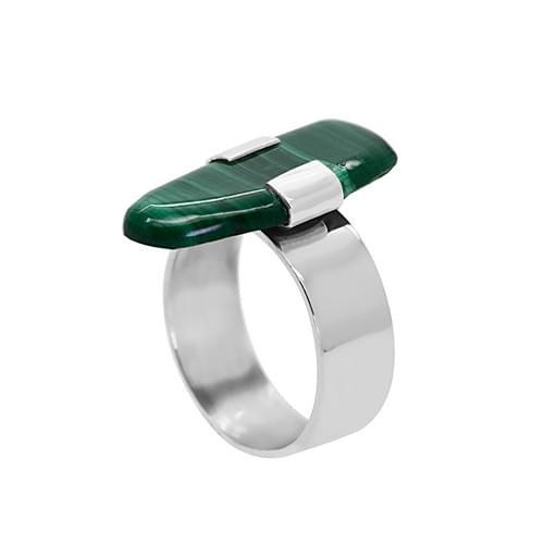 Malachit köves gyűrű (Cikkszám: 41100