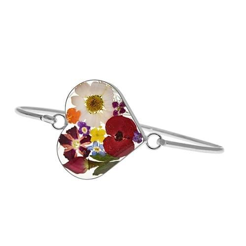 Virágos szív karperec (Cikkszám: 42208)
