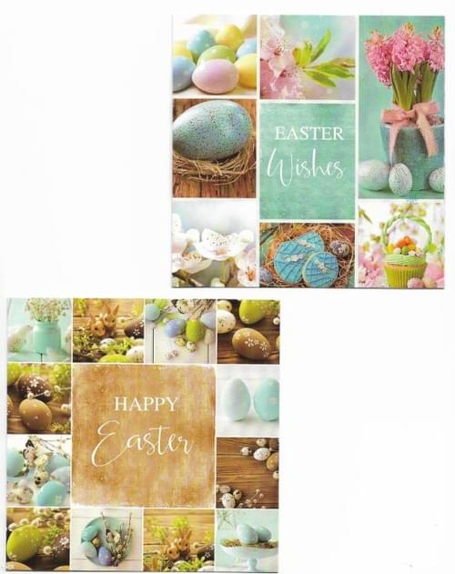 Turquoise Easter Eggs - Pack of 8 Easter Cards