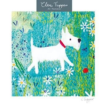 Dog & Flowers / Chien et fleurs