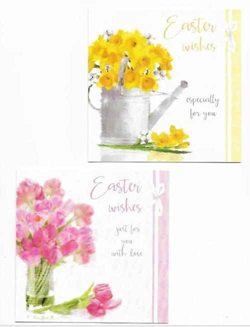 Easter Flowers - Pack of 8 Easter Cards