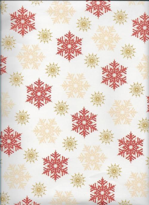 Snowflakes Christmas Paper / Papier d'emballage de Noël - flocons de neige