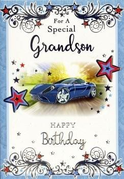 Blue Sports Car - Grandson