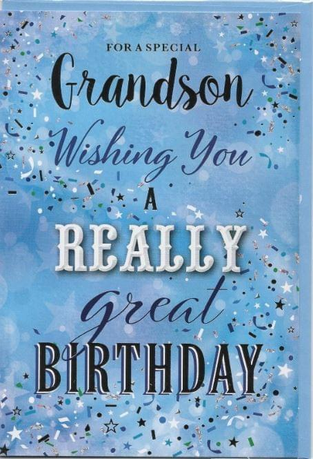 Really Great Birthday Grandson