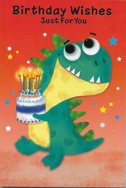 Dinosaur & Cake