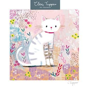 Cat and Flowers / Chat et fleurs