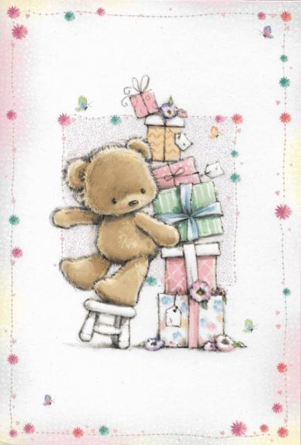 Tumbling Bear & Presents / Ourson