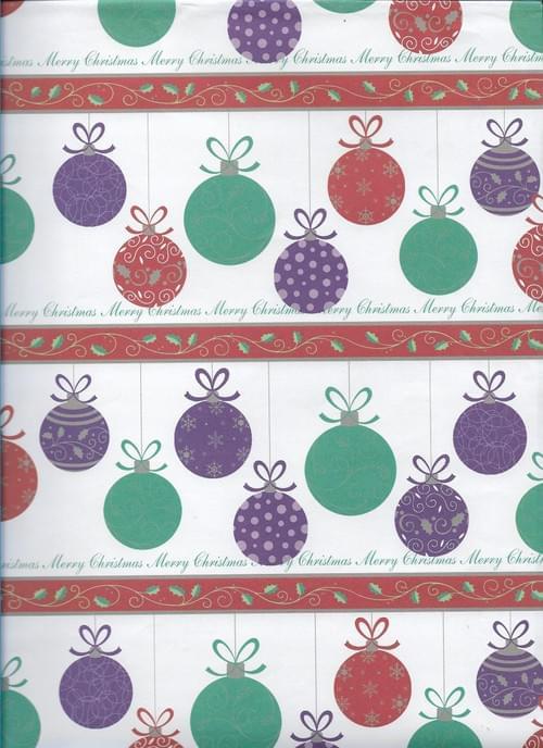 Baubles Christmas Paper / Papier de Noël des boules