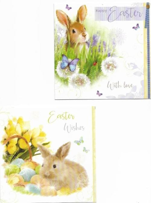 Easter Rabbits - Pack of 8 Easter Cards
