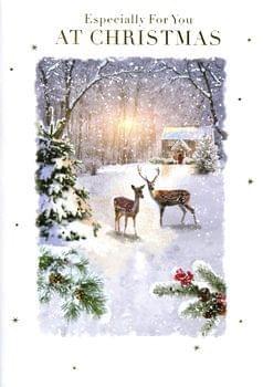Deers in the snow