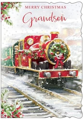 Grandson Steam Train - Christmas