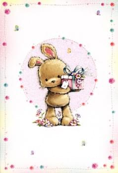 Rabbit with a gift / Lapin