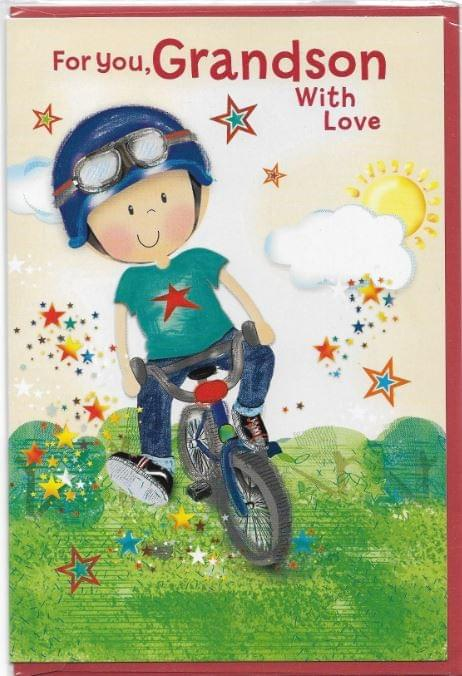 Biking Young Grandson