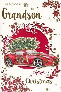 Grandson Red Car - Christmas