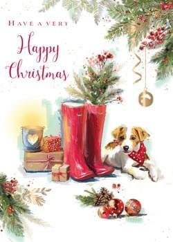 Christmas Dog & Boots