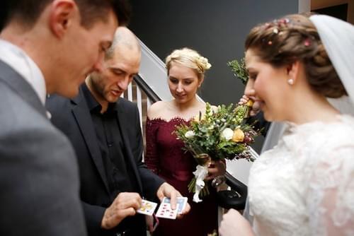 Wedding magician, close up magician, after dinner magician, corporate magician.
