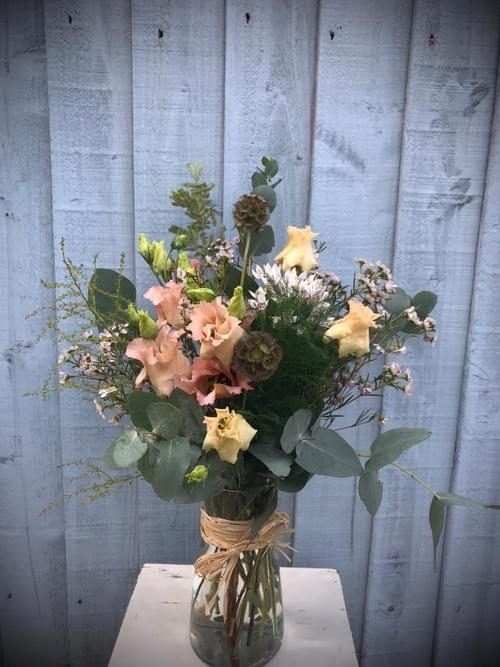 Rustic Blush Vase