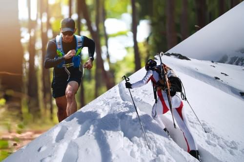 SKIMO Race - Running + Skimo