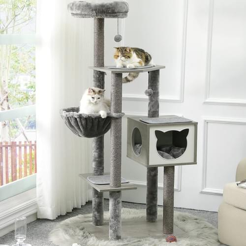 MSMASK XL Large Cat Tree with Sisal Scratching Posts