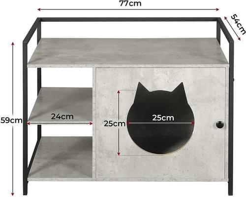 MSmask Large Cat Litter Box Enclosure, Hidden Litter Furniture Cabinet