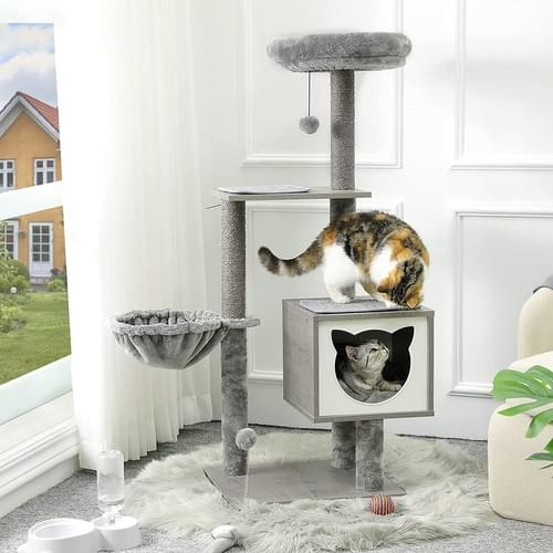 MSMASK Cat Tree with Sisal Scratching Posts