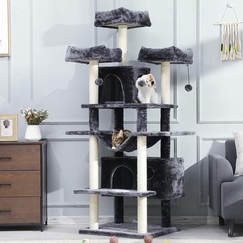 MSMASK XXL Large Cat Tree with Sisal Scratching Posts