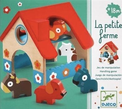 Minifarm Petite ferme Djeco avec animaux dès 18 mois