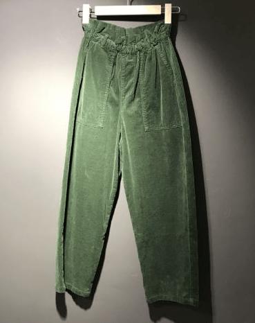 Pantalon Yaël Velour - Hod - Emeraude (taille XS, S, M)