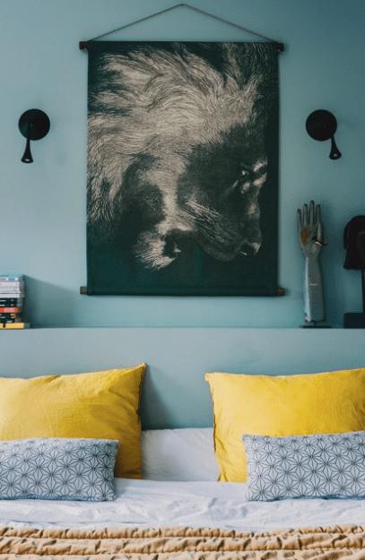 Tapisserie LE LION by Les Maturins Paris