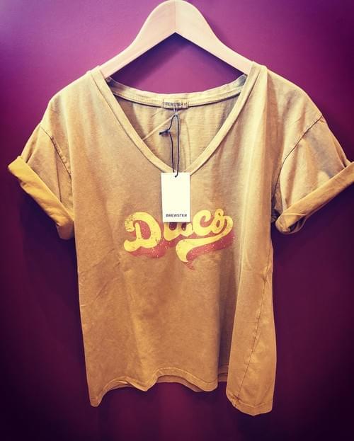 Tee Shirt Tarentino Disco Mustard- BREWSTER -