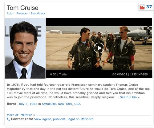 IMDb Page Creation