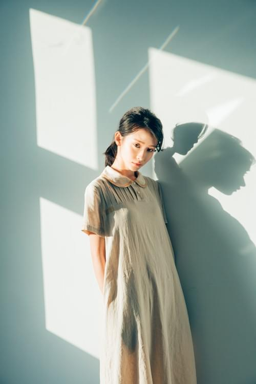 100%Linen純亞麻原色計劃一有口袋的短袖長長OP_BD001