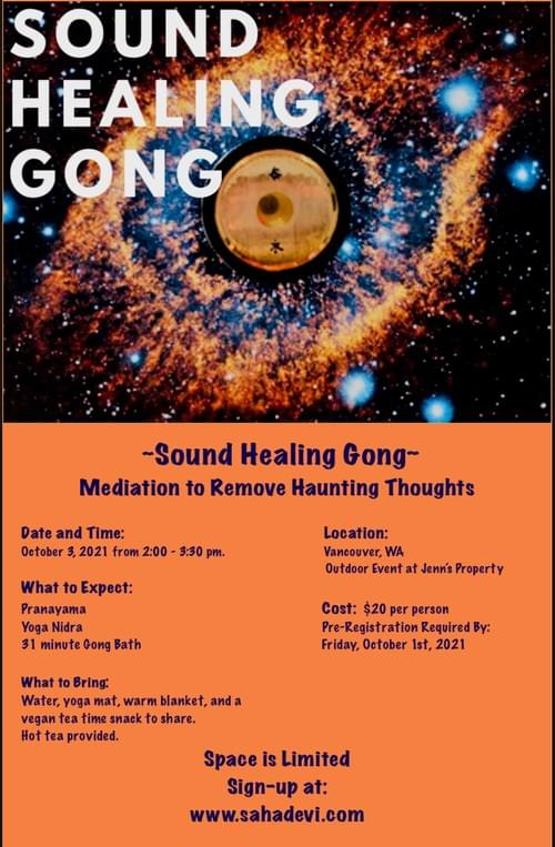 SOUND HEALING GONG