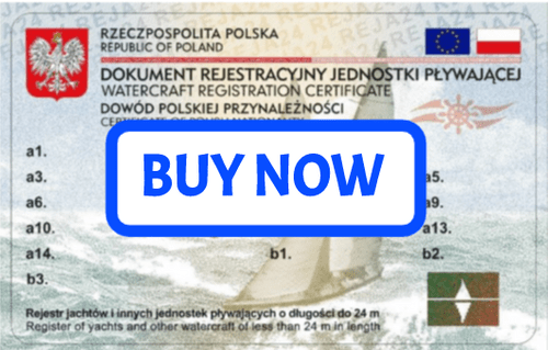 Pologne Yacht Enregistrement - moins de 24 m