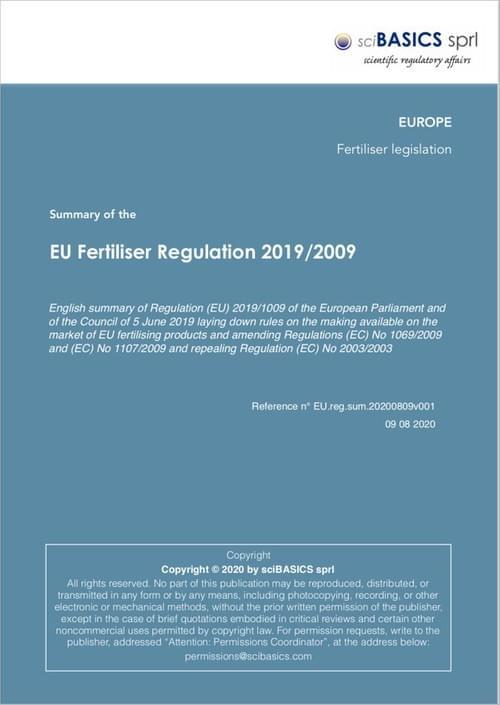 EU Fertiliser Regulation 2019/2009