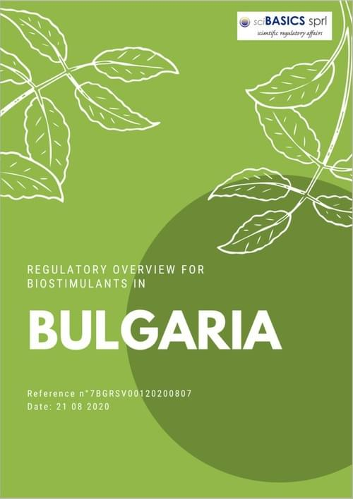 Regulatory overview for biostimulants in Bulgaria