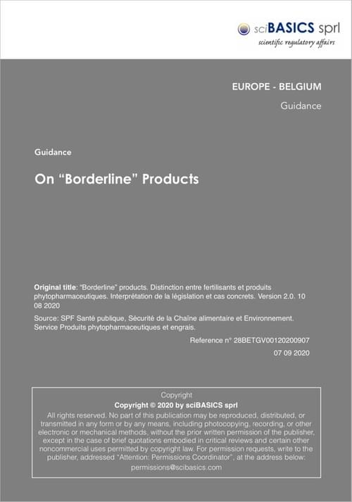 "On ""Borderline"" Products"