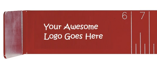 "Custom Logo on Red Aluminum (16"", 21"", 30"" or 34"") - Qty of 100"