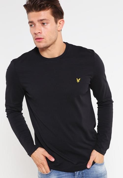 Camiseta Lyle & Scott de Manga Larga Negra