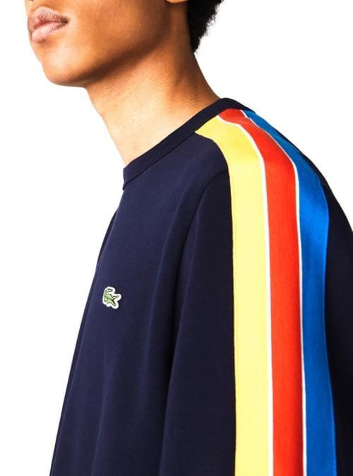 Sudadera Lacoste Tricolor Azul